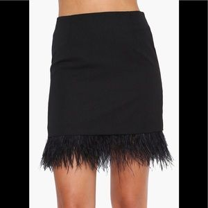 JOA Feather Fascination Skirt